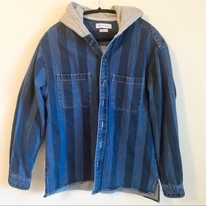 Stripped denim jacket